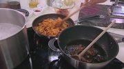 Spaghetti arrabiata i carbonara w kuchni Nestora Grojewskiego