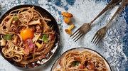 Spaghetti – grzybowa carbonara z żółtkiem