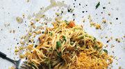 Spaghetti z anchois, pietruszką i czosnkową bułką tartą