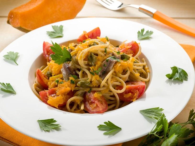 Spaghetti z dynią /123RF/PICSEL