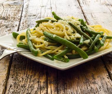 Spaghetti z zielonym akcentem