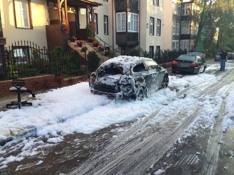 Spalone auto /Kuba Kaługa /RMF FM