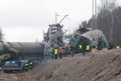 Specjalny czołg na miejscu katastrofy kolejowej