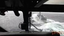 Spektakularne lądowanie na wodzie! W czasie sztormu!
