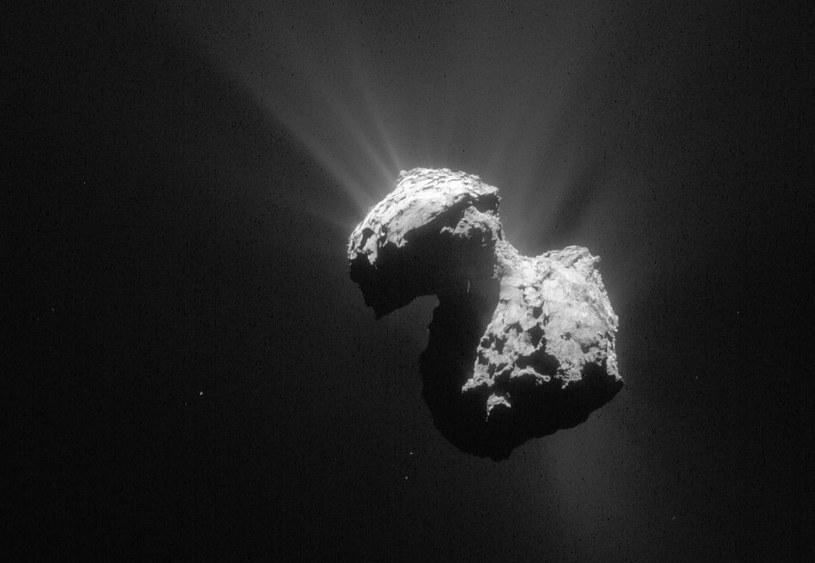 Spojrzenie na kometę 67P z 5 lipca 2015 /materiały prasowe