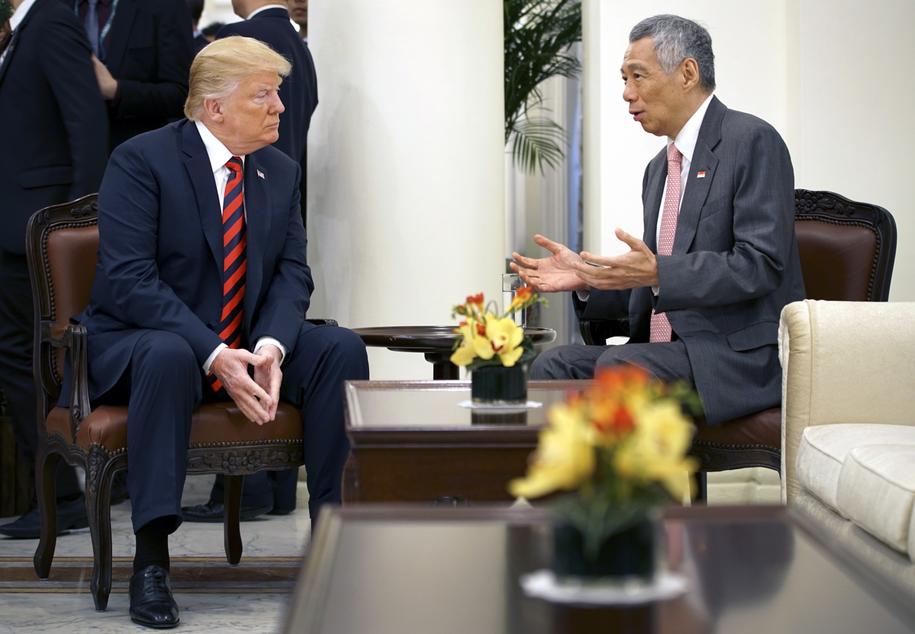 Spotkanie Donalda Trumpa z premierem Singapuru /MCI SINGAPORE  /PAP/EPA