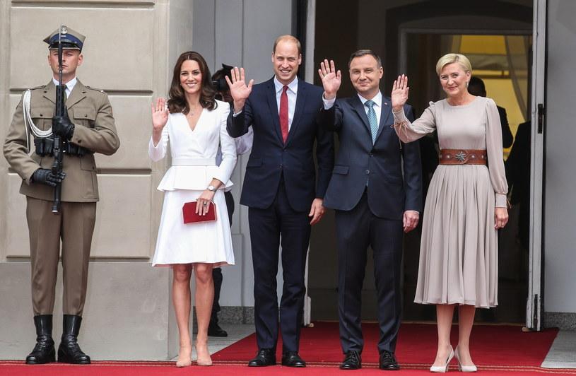 Spotkanie prezydenckiej pary z księciem Williamem i księżną Kate /Rafał Guz /PAP