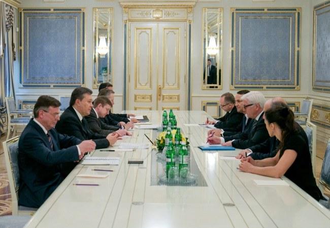 Spotkanie trwało całą noc /ANDRIY MOSIENKO/POOL /PAP/EPA