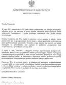 Sprawdzian 2015: Minister Edukacji Narodowej napisała list do uczniów