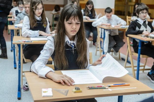 Sprawdzian w Szkole Podstawowej nr 21 im. Królowej Jadwigi w Lublinie /W. Pacewicz /PAP