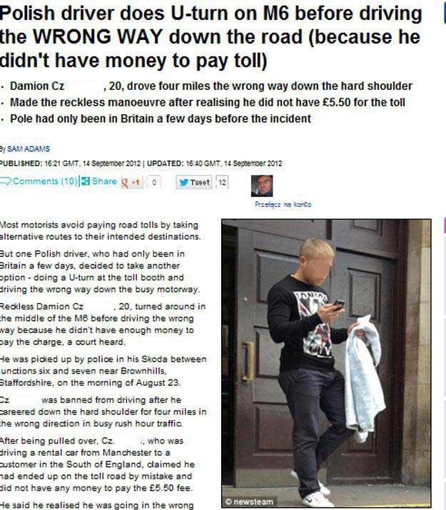 Sprawę opisał min. Daily Mail /