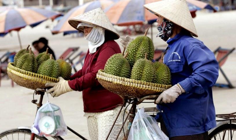 Sprzedawcy durianów w miejscowości Vung Tau, Wietnam /AFP