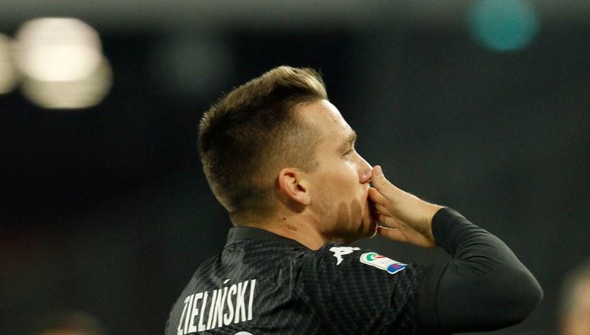 SSC Napoli - AC Milan 2-1. Bramka Piotra Zielińskiego