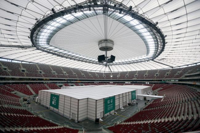 Stadion Narodowy przed szczytem ONZ /Tomasz Gzell /PAP