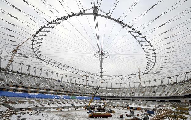 Stadion Narodowy w Warszawie - stan na 4 stycznia 2011 /AFP