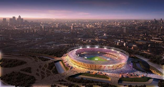 Stadion Olimpijski w Londynie na tle miasta prezentuje się imponująco /Getty Images/Flash Press Media