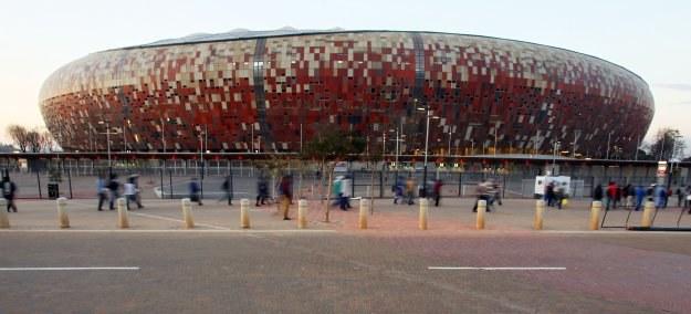 Stadion Soccer City w Johannesburgu, gdzie już w piątek rozpoczną się MŚ /AFP/INTERIA.PL