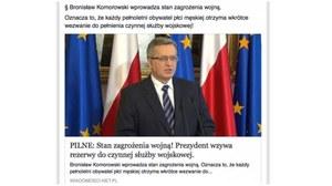 """""""Stan zagrożenia wojną!"""" - facebookowe oszustwo o powszechnej mobilizacji"""