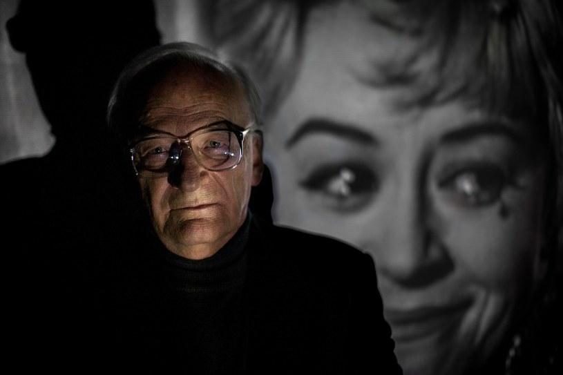 Stanisław Janicki na tle portretu Giulietty Masiny /Mieszko Stanisławski /Reporter