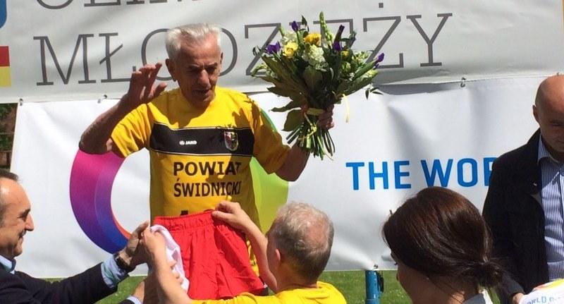 Stanisław Kowalski pobił rekord w biegu /Barbara Zielińska - Mordarska /RMF FM