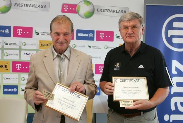 Stanisław Oślizło (z lewej) i Włodzimierz Lubański /Informacja prasowa
