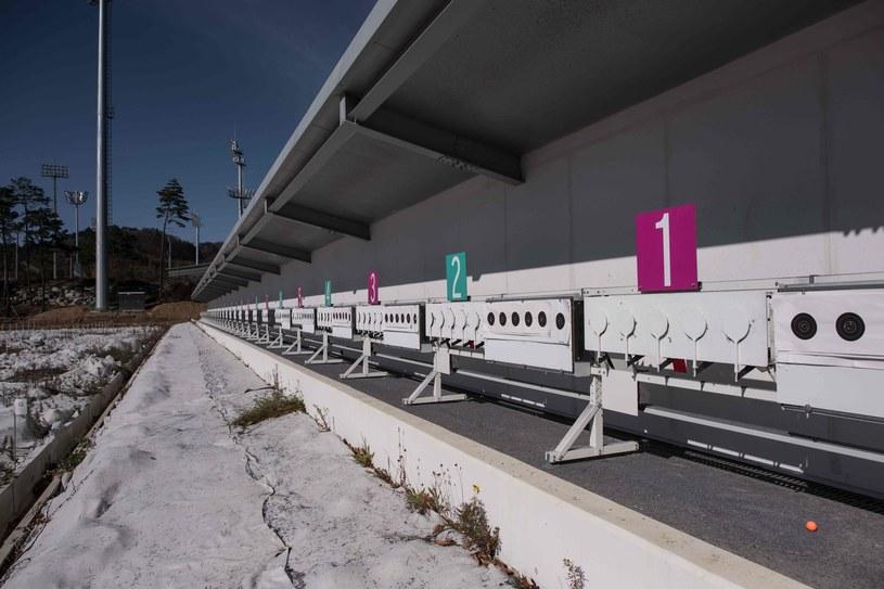Stanowiska dla biathlonistów na obiekcie olimpijskim w Pjongczangu /AFP
