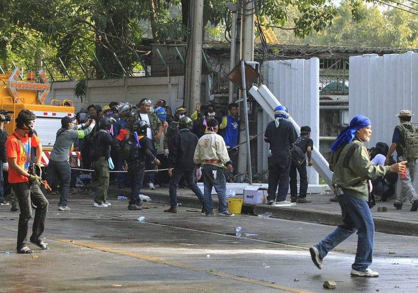 Starcia między policją a antyrządowymi demonstrantami /PAP/EPA