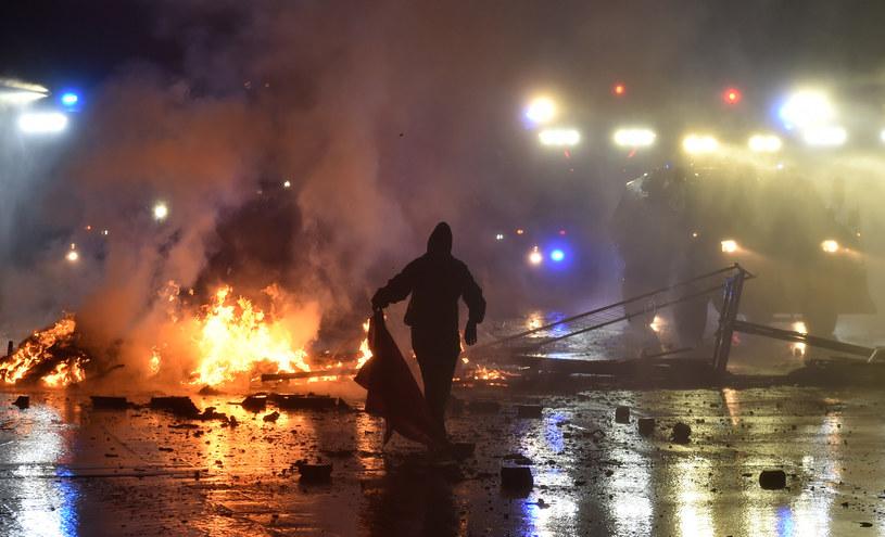 Starcia w Hamburgu podczas szczytu G20 /AFP