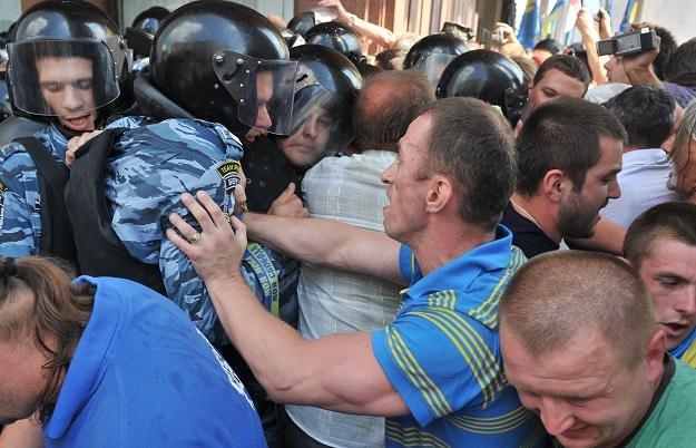 Starcia w Kijowie /AFP