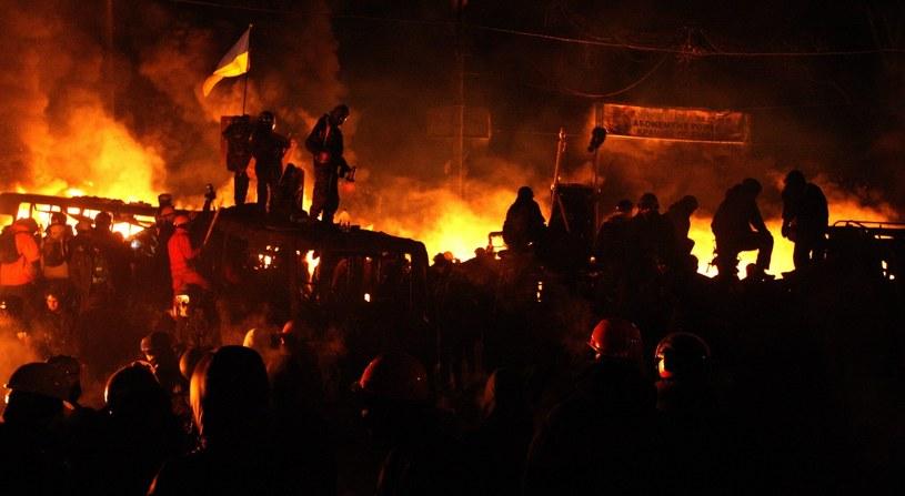 Starcia w Kijowie /PAP/EPA