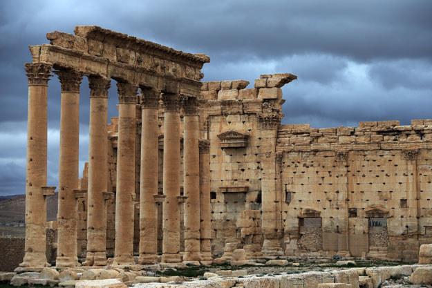 Starożytne ruiny w Palmirze: Zdjęcie z 2014 roku fot. Joseph Eid /AFP
