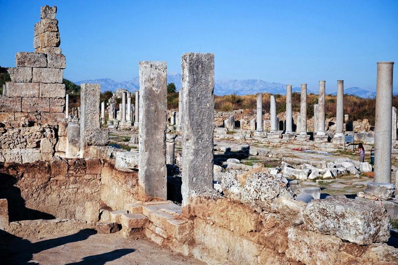 Starożytne ruiny w Perge /AFP