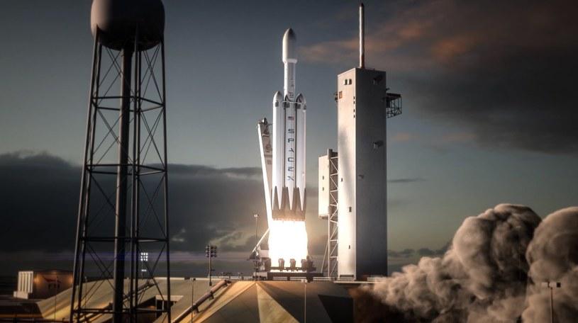 Start Falcon Heavy - kadr z animacji /materiały prasowe