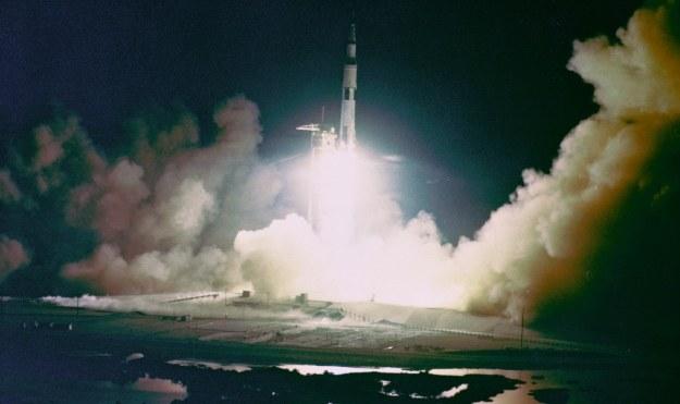 Start rakiety Saturn V.  Fot. NASA /materiały prasowe