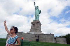Statua Wolności w Dniu Niepodległości USA