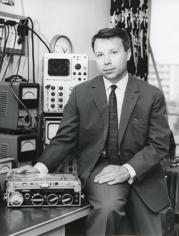 Stefan Kudelski z magnetofonem nagra /Kudelski Group /AFP