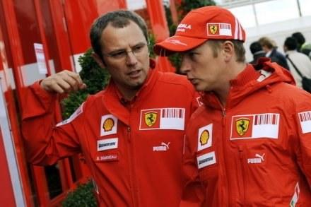 Stefano Domenicali i Kimi Raikkonen /AFP