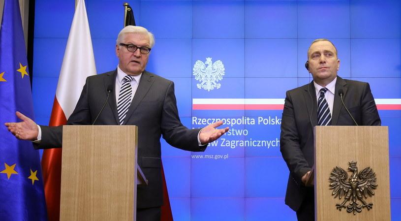 Steinmeier i Schetyna /Paweł Supernak /PAP