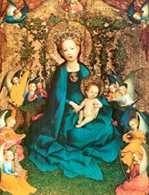 Stephan Lochner, Matka Boska w ogrodzie różanym, ok. 1448 /Encyklopedia Internautica