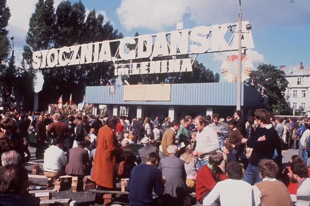 Stocznia Gdańska w 1980 roku /Lehtikuva /AFP