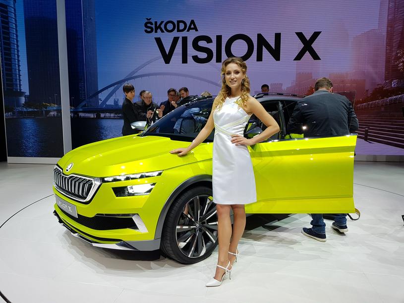 Stoisko Skody oparło się trendowi zwalniania hostess /INTERIA.PL