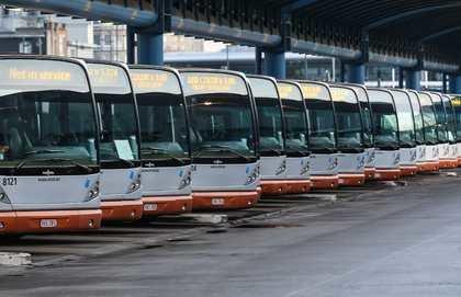 Strajk transportowców w Brukseli /JULIEN WARNAND /PAP/EPA