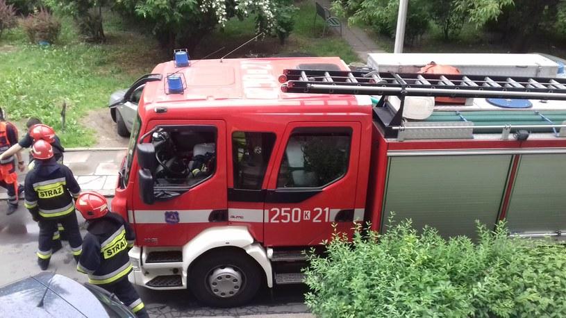Straż pożarna podczas interwencji /INTERIA.PL