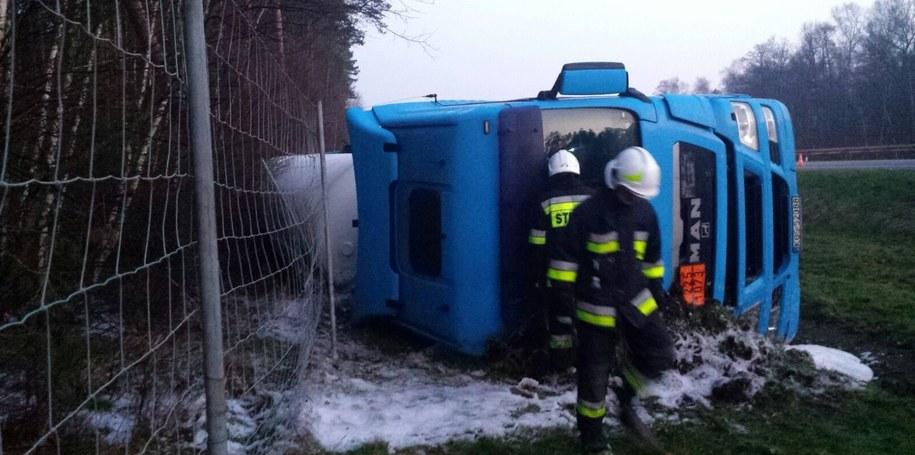 Strażacy na miejscu wypadku /Mariusz Materlik /Gorąca Linia RMF FM