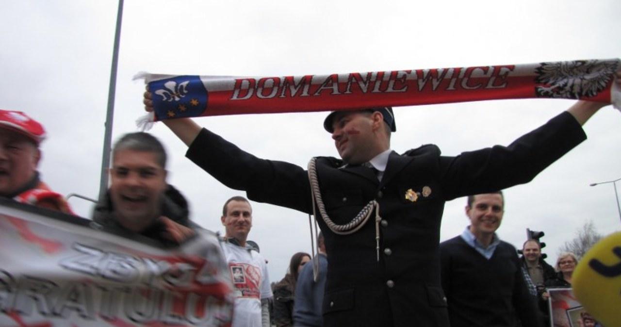 Strażacy powitali mistrza olimpijskiego