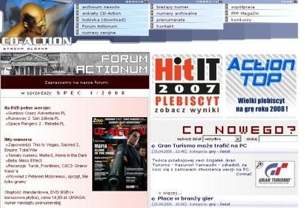 Strona CD-Action /materiały prasowe