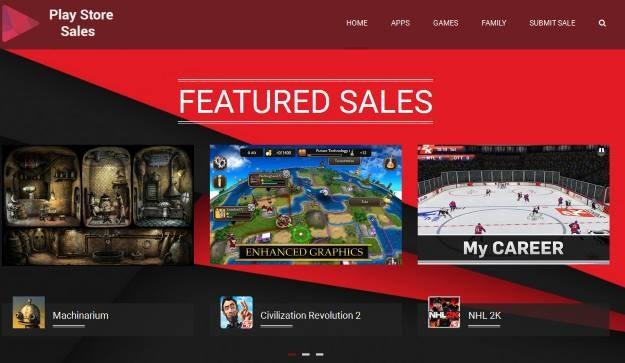 Strona główna serwisu Play Store Sales /materiały prasowe