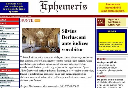 "Strona internetowa ""Ephemeris"" /Internet"