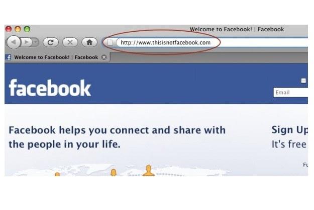 Strona phishingowa portalu społecznościowego Facebook /materiały prasowe