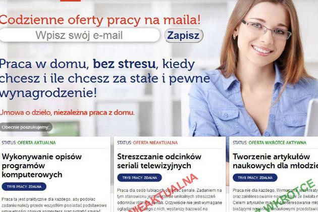 Strona serwisu e-praca.vv.net.pl /materiały prasowe